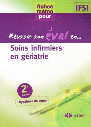 Soins infirmiers en gériatrie - estem - 9782843714641 -