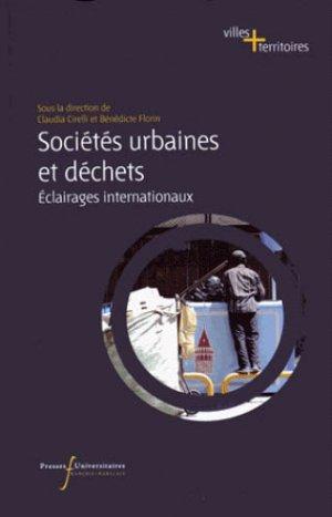 Sociétés urbaines et déchets - presses universitaires francois rabelais - 9782869063822 -