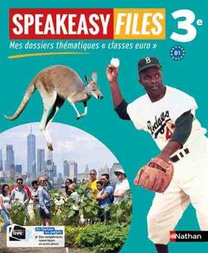 Speakeasy Files 3e - nathan - 9782091780481 -