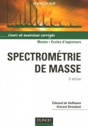Spectromètrie de masse - dunod - 9782100494491 -