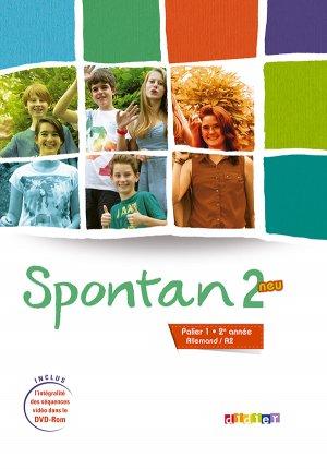 Spontan 2 Neu Palier 1 2e année A2 : Livre et DVD-rom - didier - 9782278079049 -
