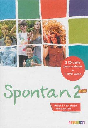 Spontan 2 Neu Palier 1 2e Année A2 : Coffret pour la Classe 2 CD Audio et 1 DVD - Didier - 9782278079094 -