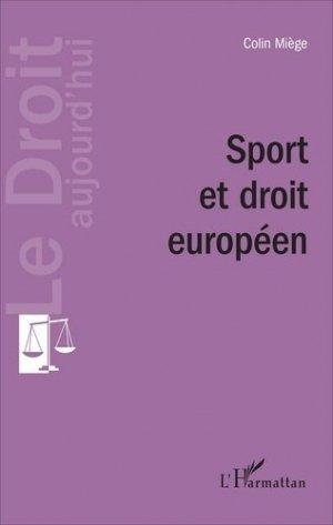 Sport et droit européen - l'harmattan - 9782343118222 -