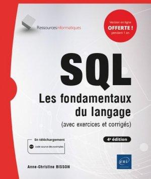 SQL - Les fondamentaux du langage (avec exercices et corrigés) - (4e édition) - eni - 9782409026553 -