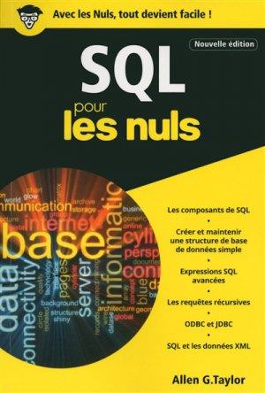 SQL pour les nuls - first - 9782412023778 -