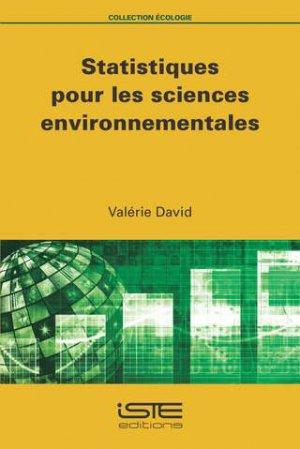 Statistiques pour les sciences environnementales - iste - 9781784055318 -