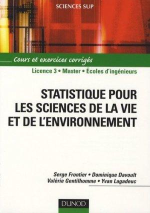 Statistique pour les sciences de la vie et de l'environnement - dunod - 9782100510511 -