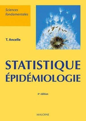 Statistiques - épidemiologie - maloine - 9782224035228