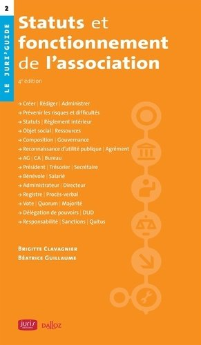 Statuts et fonctionnement de l'association. 4e édition - dalloz - 9782247188697 -