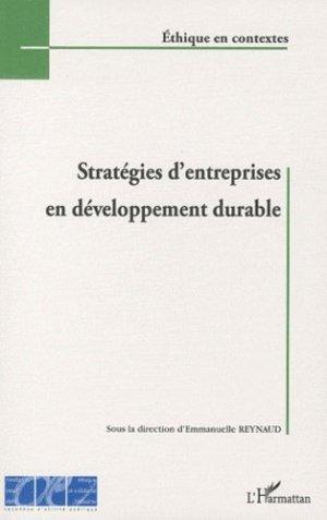Stratégies d'entreprises en développement durable - l'harmattan - 9782296140042 -