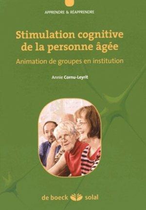 Stimulation cognitive de la personne agée - de boeck superieur - 9782353273034 -