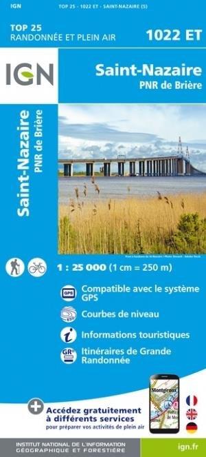 St-Nazaire, PNR de Brière - Institut Géographique National - 9782758551379 -