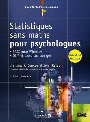 Statistiques sans maths pour psychologues - de boeck superieur - 9782807302624 -