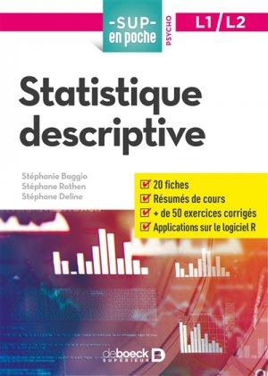 Statistique descriptive - De Boeck - 9782807314917 -