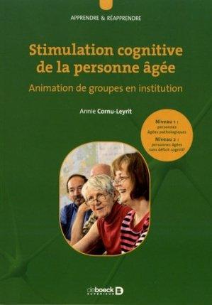 Stimulation cognitive de la personne âgée - de boeck superieur - 9782807330054 -