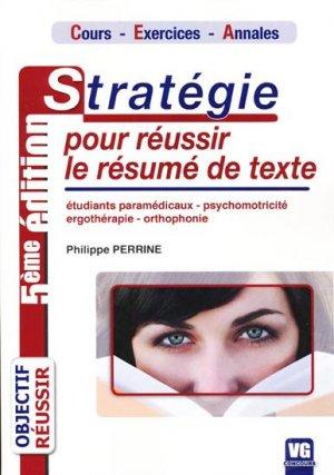 Stratégie pour réussir le résumé de texte - vernazobres grego - 9782841369294 -