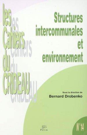 Structures intercommunales et environnement - presses universitaires de limoges - 9782842873738 -