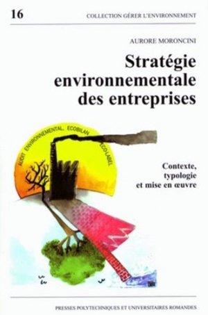 Stratégie environnementale des entreprises - PPUR - 9782880743895 -