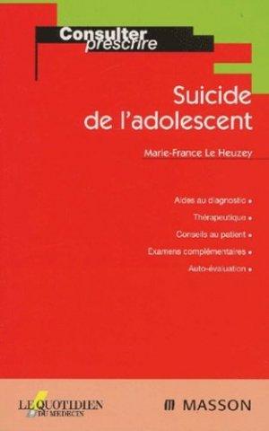 Suicide de l'adolescent - elsevier / masson - 9782225833137 -