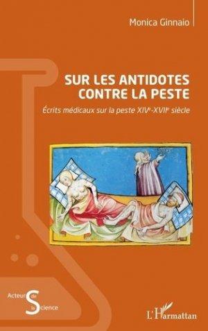 Sur les antidotes contre la peste - l'harmattan - 9782343221694 -