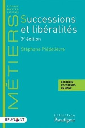 Successions et libéralités - Bruylant - 9782390133025 -