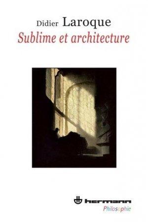 Sublime et architecture - hermann - 9782705670542 -