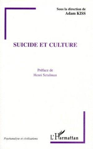 Suicide et culture - l'harmattan - 9782738480835 -