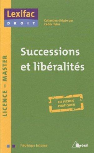 Successions et libéralités - Bréal - 9782749509853 -