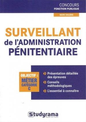 Surveillant de l'administration pénitentiaire - Studyrama - 9782759018253 -
