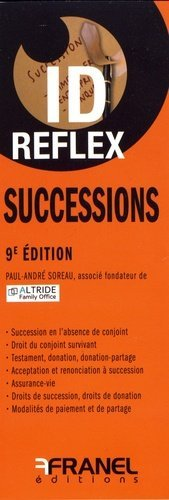 Successions. 9e édition - arnaud franel - 9782896036585 -