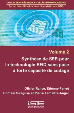 Synthèse de SER pour la technologie RFID sans puce à forte capacité de codage-iste-9781784053307