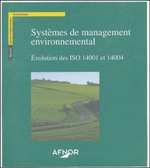 Systèmes de management environnemental - afnor - 9782122114117 - majbook ème édition, majbook 1ère édition, livre ecn major, livre ecn, fiche ecn