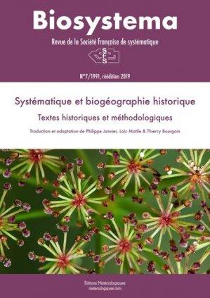 Systématique et biogéographie historique - materiologiques - 9782373612226 -