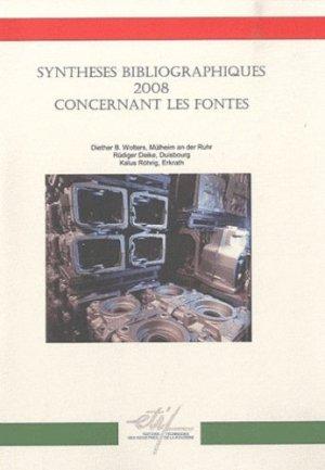 Synthèses bibliographiques 2008 concernant les fontes - etif - 9782711902378 -