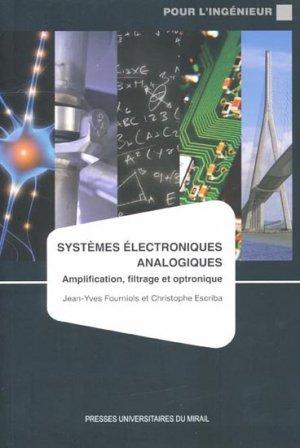 Systèmes électroniques analogiques - presses universitaires du mirail  - 9782810700585 -