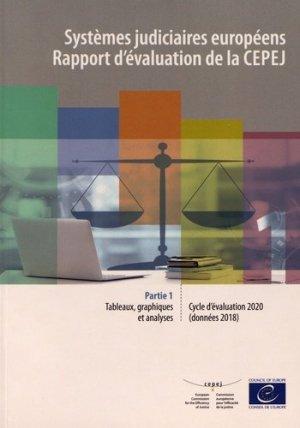 Systèmes judiciaires européens - Rapport d'évaluation de la CEPEJ - Conseil de l'Europe - 9789287186997 -