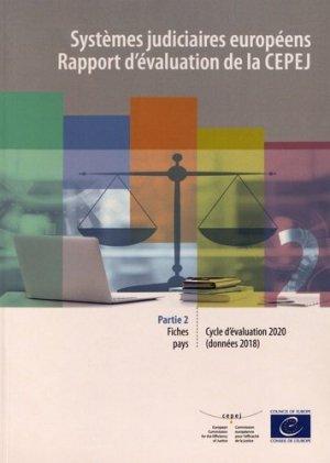 Systèmes judiciaires européens - Rapport d'évaluation de la CEPEJ - Conseil de l'Europe - 9789287187086 -