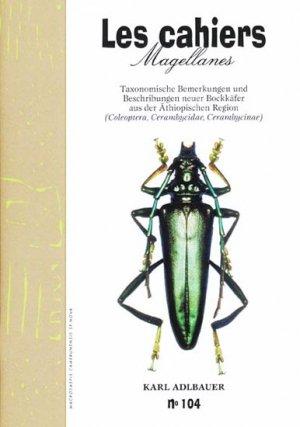 Taxonomische Bemerkungen und Beschribungen neuer Bockkäfer aus der Äthiopischen Region - magellanes - 9782353870608 -