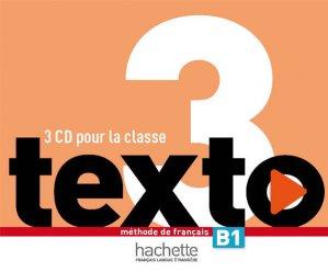 Texto 3 : CD audio classe (x3) - hachette français langue etrangère - 3095561961850 -