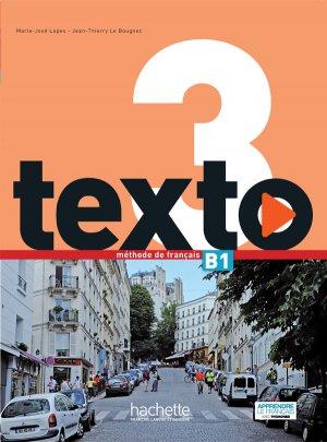 TEXTO 3 B1 LIVRE ELEVE + DVDMANUEL - hachette - 9782014015942 -