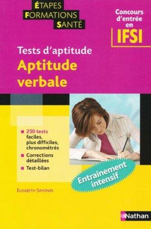 Tests d'aptitude - nathan - 9782091604183 -