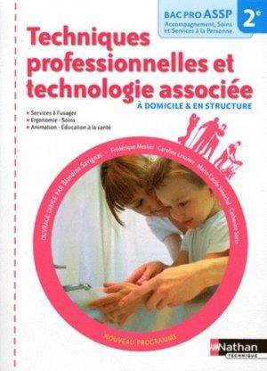 Techniques professionnelles et technologie associée - nathan - 9782091618067 -