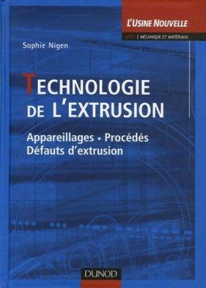 Technologie de l'extrusion  - dunod - 9782100068364 -