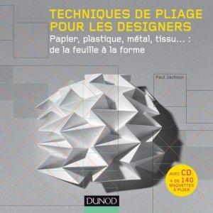 Techniques de pliage pour les designers - dunod - 9782100556441 -