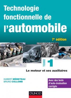 Technologie fonctionnelle de l'automobile Tome 1 - dunod - 9782100708246 -
