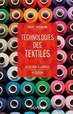 Technologies des textiles - dunod - 9782100809257 -