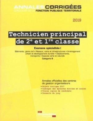 Technicien principal de 2e et 1re classe. Examens spécialités I, Edition 2019 - La Documentation Française - 9782111456198 -