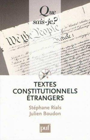 Textes constitutionnels étrangers - puf - presses universitaires de france - 9782130567110 -