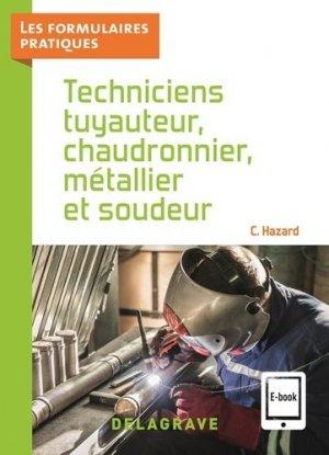 Techniciens tuyauteur, chaudronnier, métallier et soudeur - Delagrave - 9782206105444 -