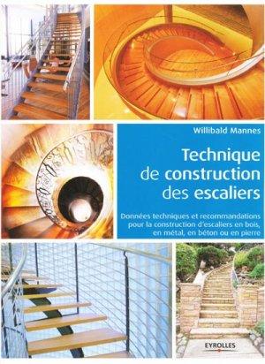 Technique de construction des escaliers - eyrolles - 9782212134971 -